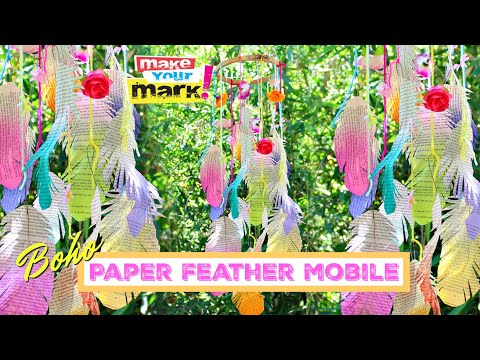 boho-paper-feather-mobile