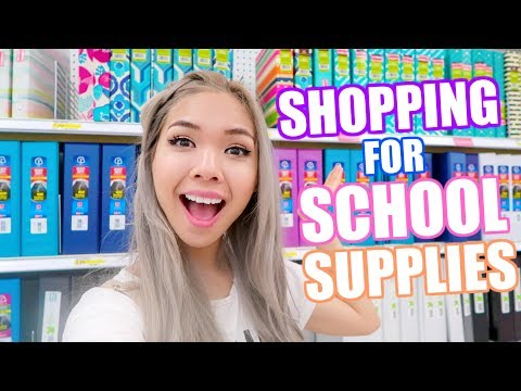 SHOPPING FOR SCHOOL SUPPLIES AT TARGET!