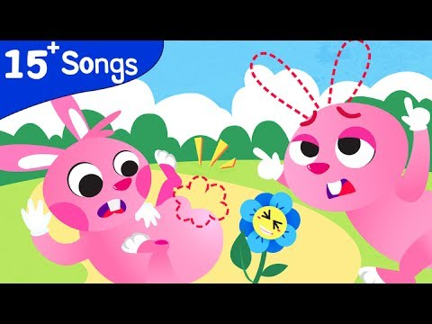 PINK BUNNY FUN SONGS | Where Is My Tail? Where Are My Ears? Bunnies Compilation by Little Angel