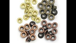 How to set eyelets
