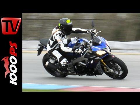 Aprilia Tuono V4 1100 RR Tracktest mit Stefanie Menzel | Fahreindruck, Leistung, Onboard