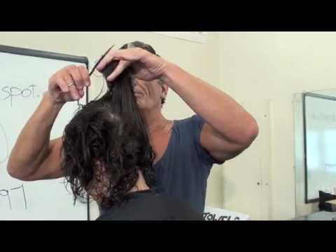 HAIRCUTTING: FINE AND CURLY HAIR TO ADD VOLUME