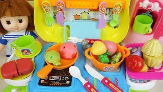 Baby doll food car kitchen toys and cooking toys Baby Doli play