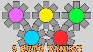5 OCTO TANKS AT ONCE!! // Diep.io Insane Bullet Mayhem