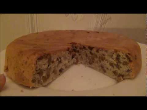 Пирог с грецким орехом в мультиварке