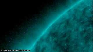 NASA SDO - Transit of Venus, Ingress, 131 Angstrom