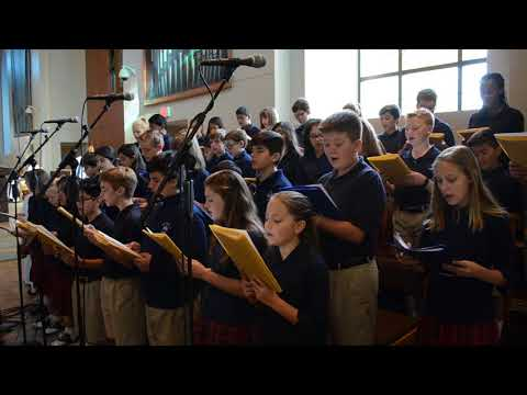 """7th Grade singing """"Be With Us Mary"""""""