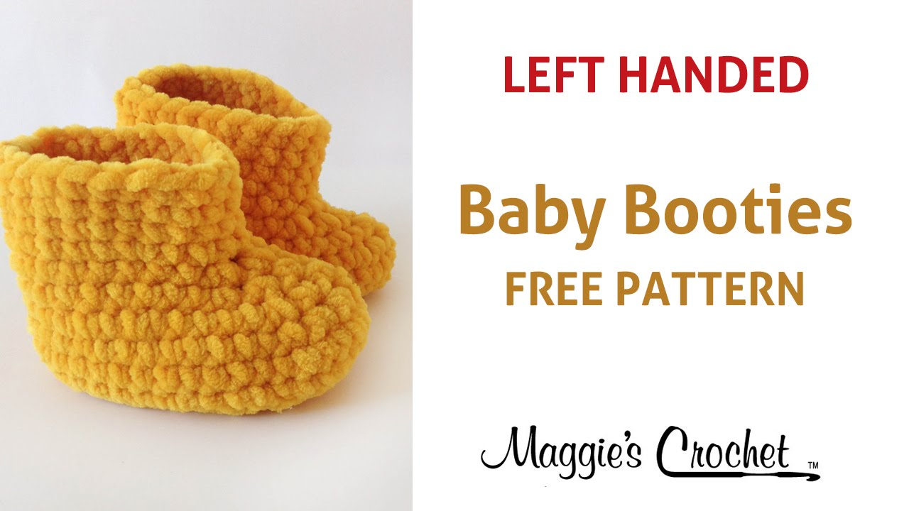 Parfait Baby Booties Free Crochet Pattern Left Handed