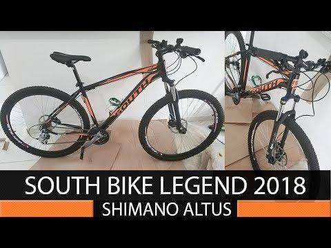 2f6d899a3 NETSHOES Bicicleta South Legend 2018 aro 29 24 Marchas Shimano Altus Freios  hidráulicos 2018