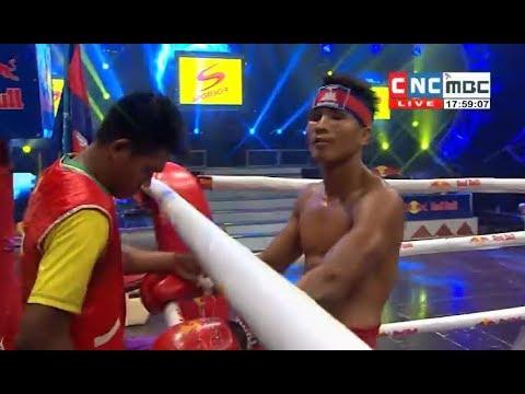 Moeun Sokhuch vs Namkhakboun(thai), Khmer Boxing CNC 17 Feb 2018, Kun Khmer vs Muay Thai
