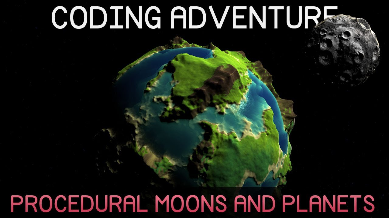 Coding Adventure: Procedural Moons and Planets