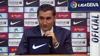 Press Conference Valverde after FC Barcelona (2-1) Athletic Club - HD