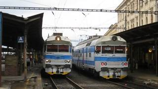 Czech Republic: CD class 560 EMUs at Brno hln (including electrical explosion during severe storm!)