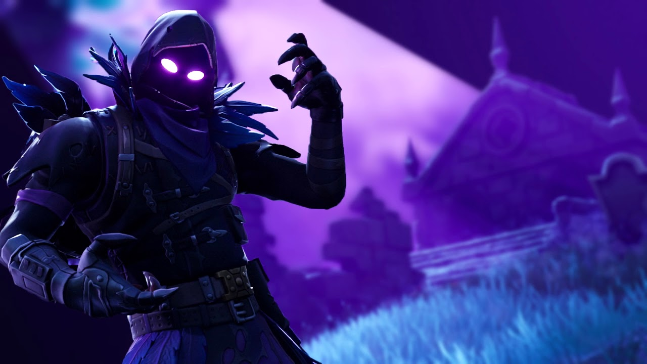 fortnite animated wallpaper the raven blurred background youtube