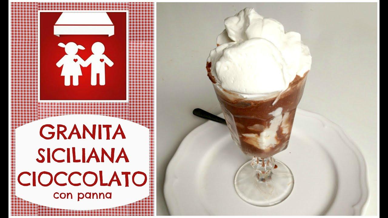 Granita siciliana cioccolato e panna dolci 2c k doovi for Casa tradizionale siciliana