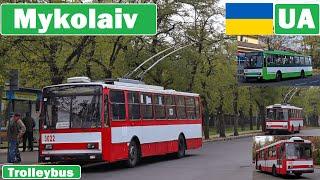 Ukraine , Mykolaiv Trolleybus 2020 [4K]
