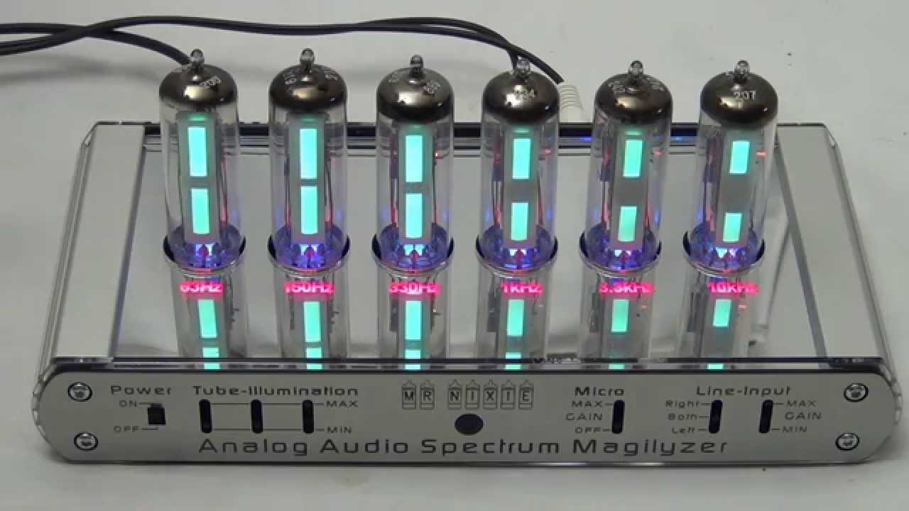 Analog Audio Spectrum Analyzer (Magilyzer) with 6 Magic Eye tubes / fully  inclusive kit
