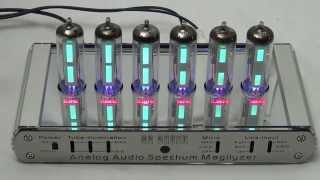 analog audio spectrum analyzer magilyzer with 6 magic eye tubes fully inclusive kit