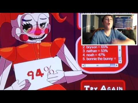 Circus Baby's Love calculator | 2% for Withered Freddy