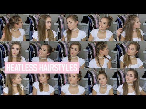 18 QUICK & EASY HEATLESS HAIRSTYLES