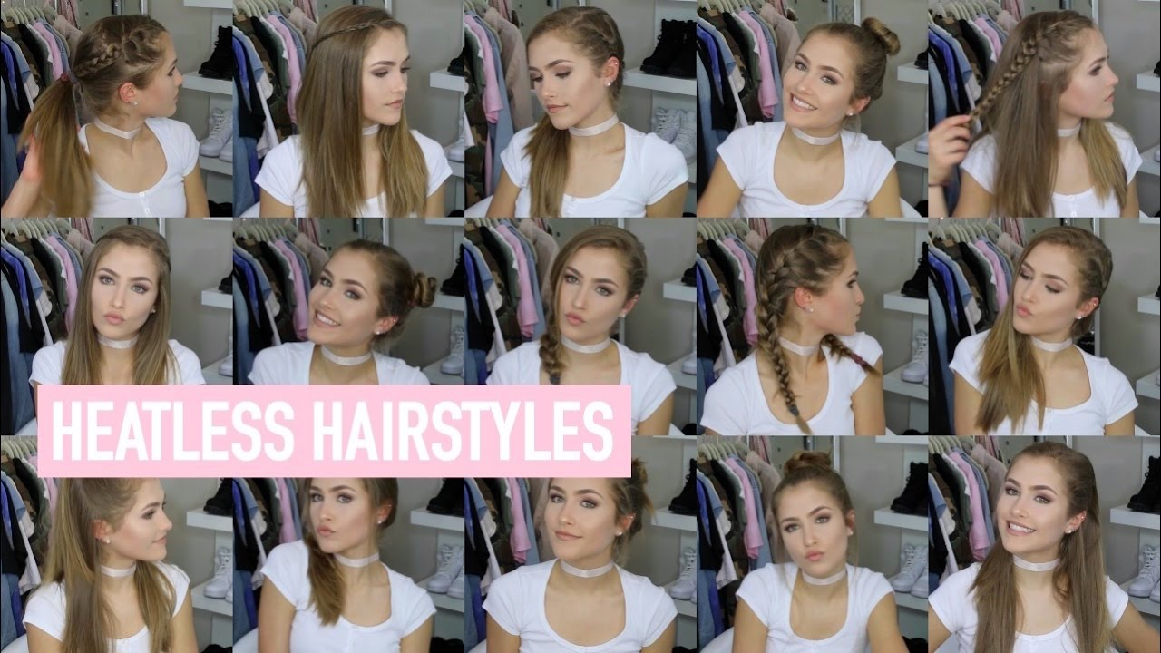 18 QUICK & EASY HEATLESS HAIRSTYLES!! | Mel Joy - YouTube