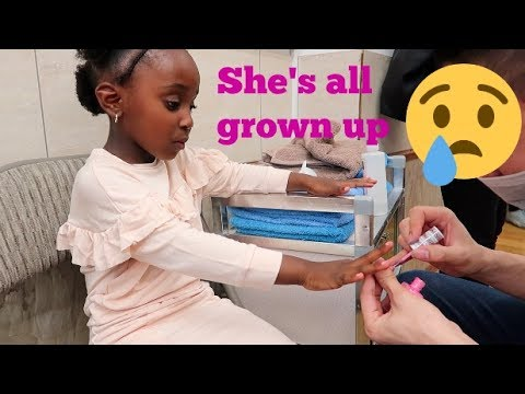 5 YEAR OLD GETS NAILS DONE FOR HER BIRTHDAY/ PART 2