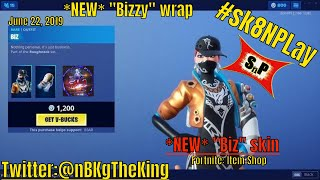 "Fortnite: Item Shop/ 'NEW' ""Biz"" skin ''NEW' ""Bizzy"" wrap released"