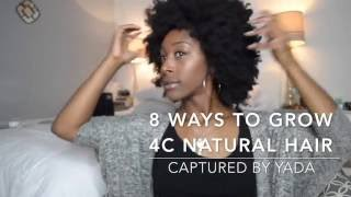 8 Tips to grow 4c natural hair