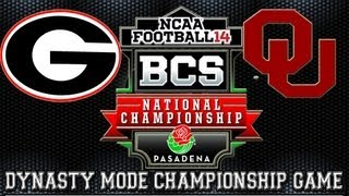 BCS Championship Game NCAA Football 14 Dynasty Mode Georgia Bulldogs vs Oklahoma Sooners