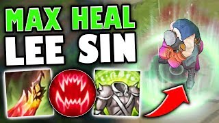 MAX HEAL LEE SIN BUILD! NEW DEATHS DANCE HEALS THROUGH ANYTHING - League of Legends