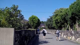 Walking in Hagi City Japan - Walk to Castle Ruins in Yamaguchi Prefecture