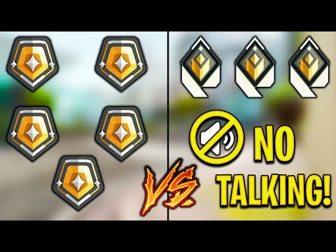 Valorant: 5 Gold Players VS 3 Radiant Players Who CAN'T COMMUNICATE! - Who Wins?