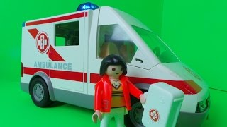 Vintage 2004 Playmobil Ambulance Krankenwagen Truck with Doctor Unboxing from Yard Sale Set 4221