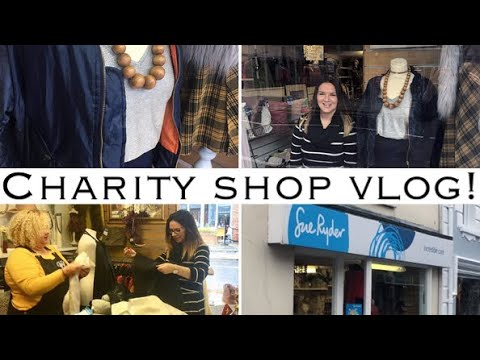 Charity Shop Vlog | Behind The Scenes | Shopping | Window Display | Sue Ryder | Norfolk