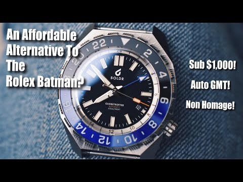 An Affordable Alternative To The Rolex Batman! (Boldr Globetrotter GMT Review)