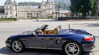 Porsche Boxster in Turin, Italy. City Tour near the Po River