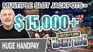 🎰 $15,000+ From MULTIPLE Slot Jackpots! 🖱 Bonuses with The ClickFather In LAS VEGAS