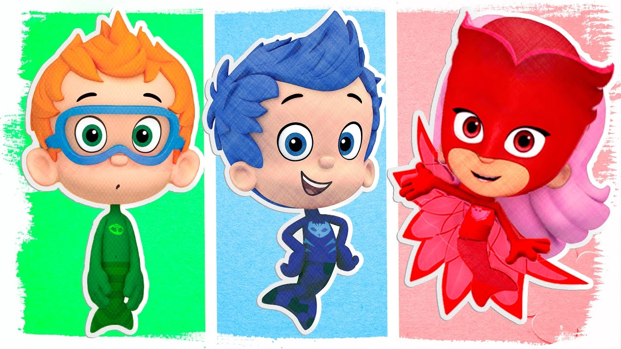 Pj Masks As Bubble Guppies Fun Coloring Videos For