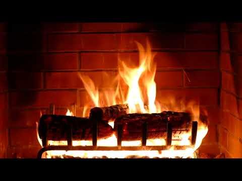 [10 часов] Огонь в камине. Расслабление и покой ...