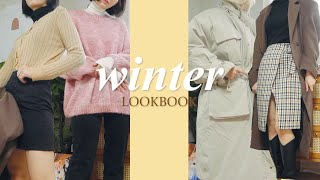 sub)🧤Winter Lookbook & Haul easy to follow 9 winter lookbook(feat.basic items)