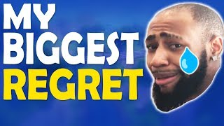 MY BIGGEST REGRET... | HIGH KILL FUNNY GAME - (Fortnite Battle Royale)