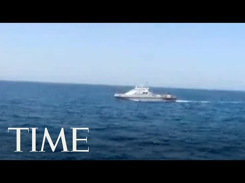 United States Navy Patrol Boat Fires Warning Shots Near An Iranian Ship In The Persian Gulf | TIME