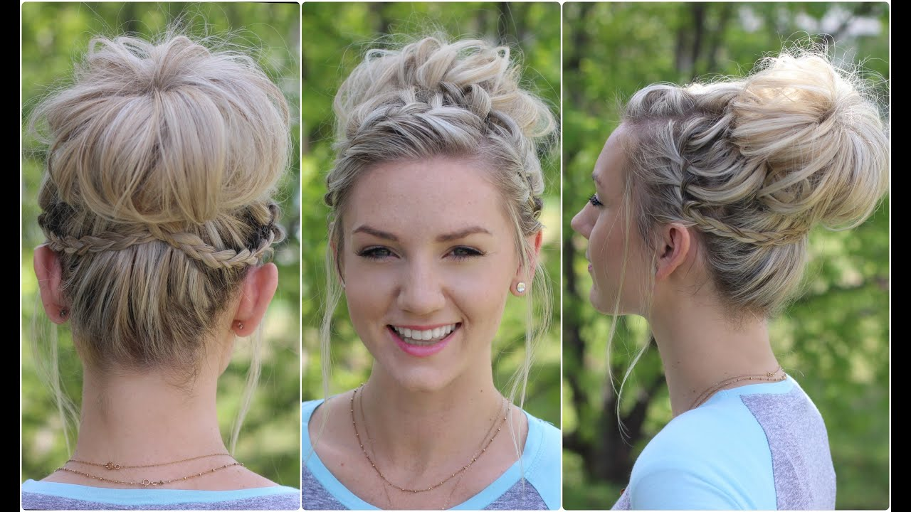 waterfall bun | updo | cute girls hairstyles - youtube