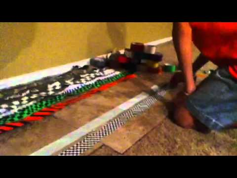 How to make a duct tape guitar strap part 1