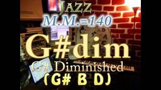G# Diminished (G# B D) - Jazz - M.M.=140 - One Chord Backing Track