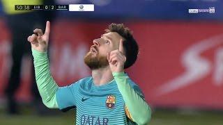 Lionel messi vs eibar (away) 22.01.2017 |hd|