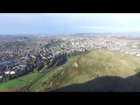 Arthur's Seat, Edinburgh, holyrood Drone Footage 2