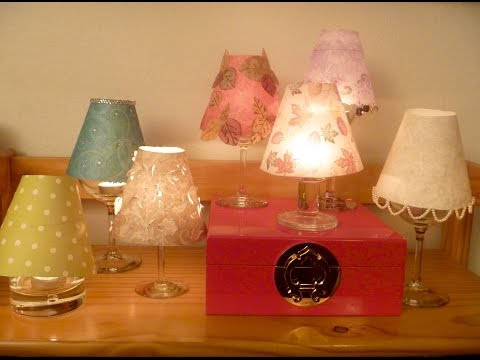 Wine Glass Lampshades