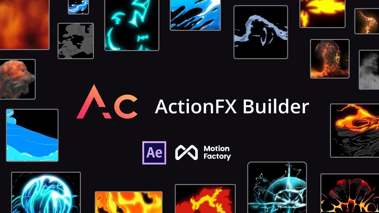 ActionFX Builder   FREE Starter After Effects Cartoon FX Plugin: Fire,  Smoke, Water, Explosion