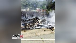 Good Samaritan helped rescue man from burning wrecker